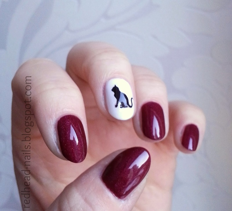 Cat tribute nail art by Redhead Nails