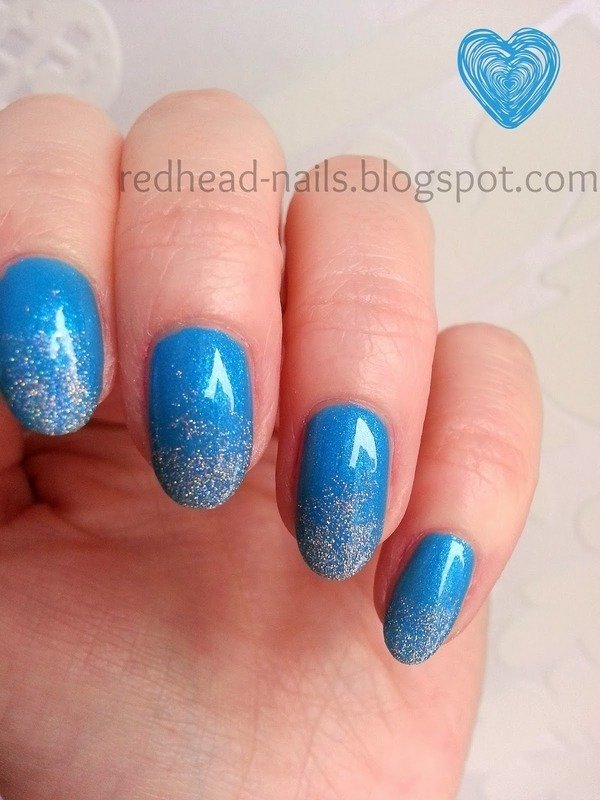 Frozen mani nail art by Redhead Nails