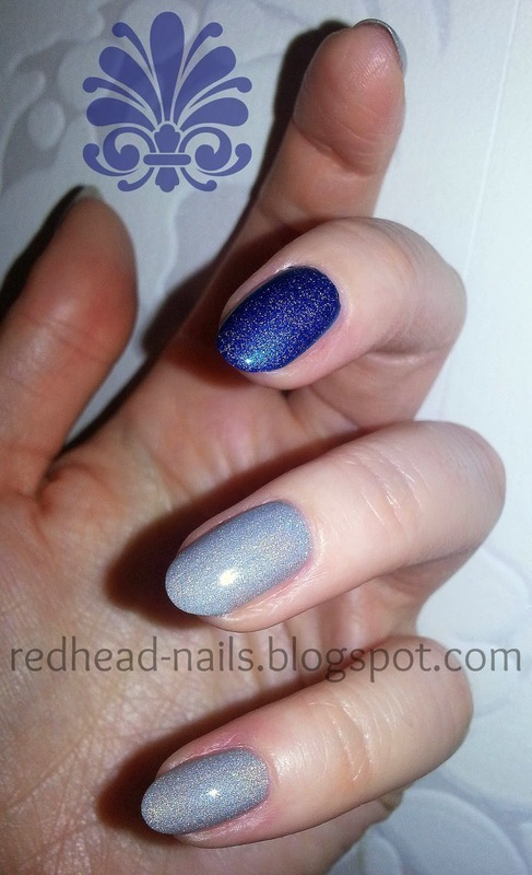 holo duo nail art by Redhead Nails