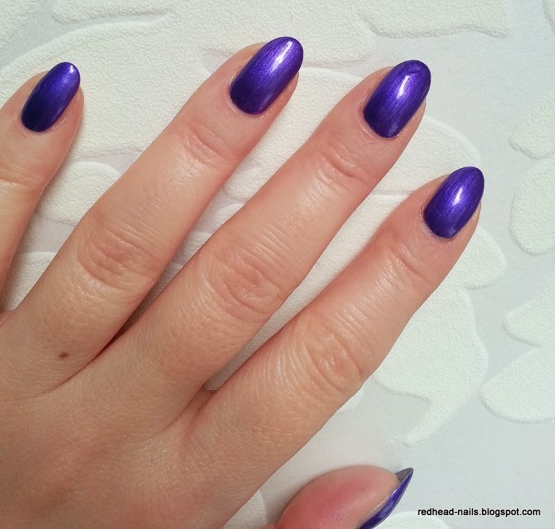 electric violet nail art by Redhead Nails