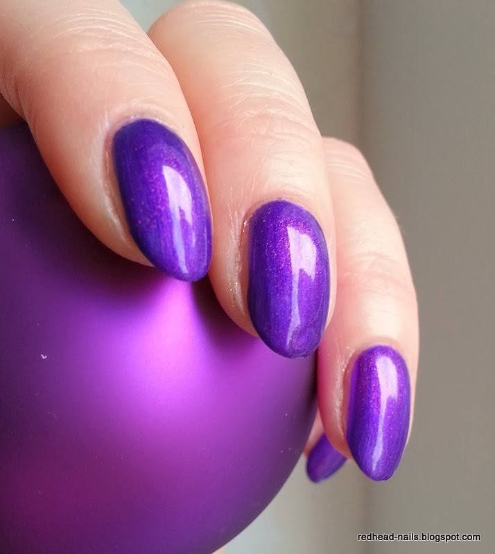 Magic violet nail art by Redhead Nails