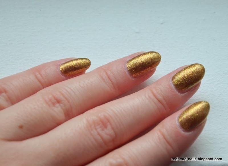 ancient gold nail art by Redhead Nails