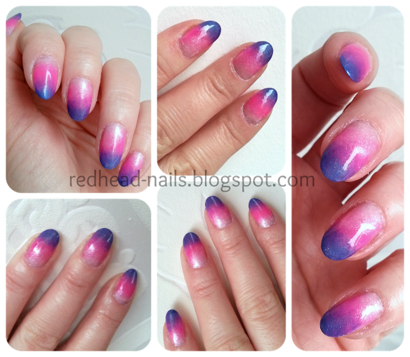 Ombre! nail art by Redhead Nails