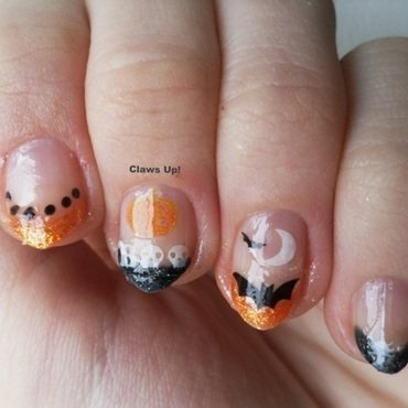 A French Halloween nail art by Jacquie