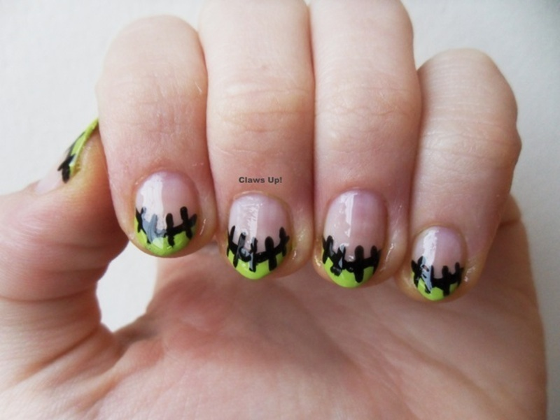 Franken-French nail art by Jacquie