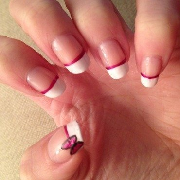 Manicure with a twist nail art by Michelle
