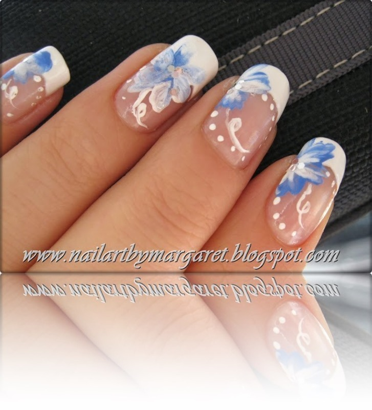 One Strok nail art by Margaret Nail Art