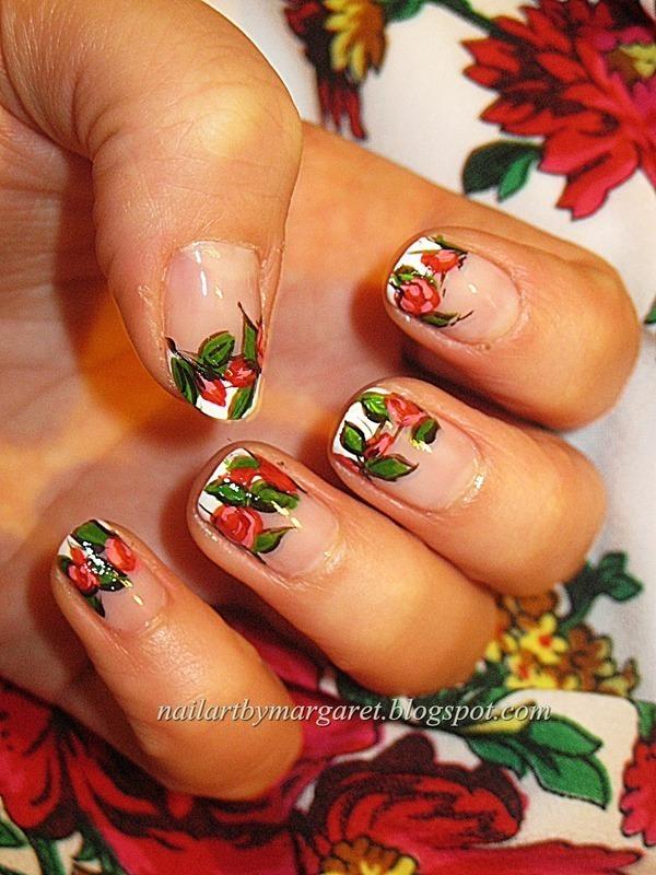 Góralski motyw nail art by Margaret Nail Art