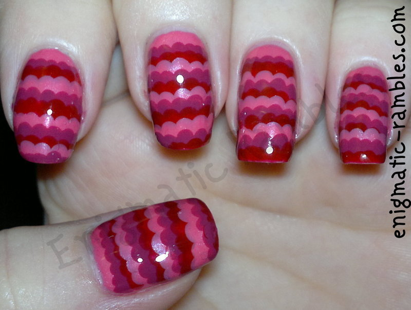 Pink Ruffled Nails nail art by Enigmatic Rambles