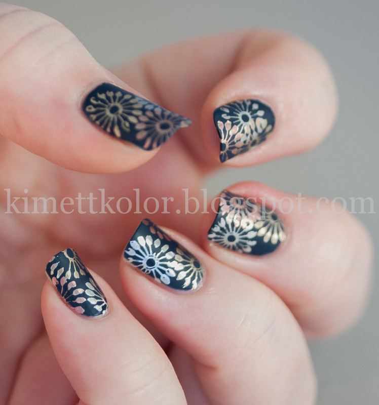 Metal Meets Matte nail art by Kimett Kolor