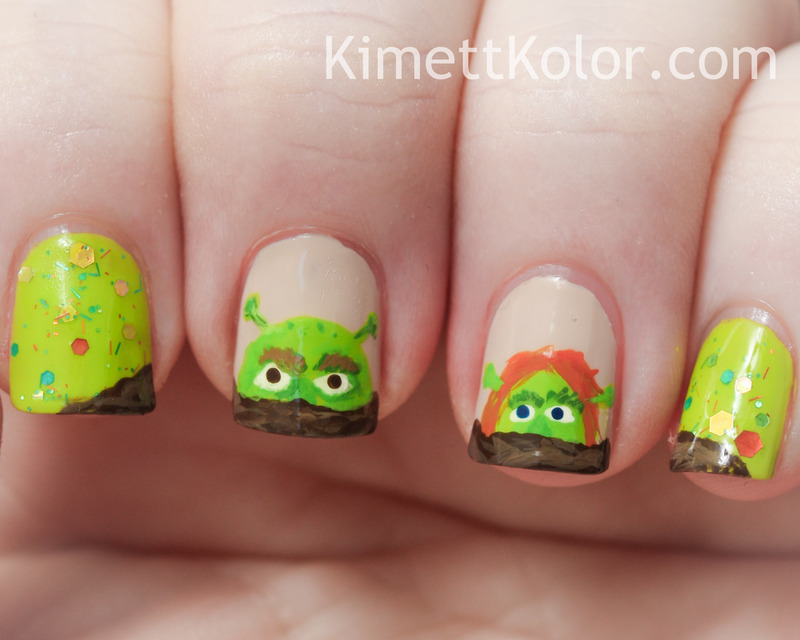 Love is...Green!? nail art by Kimett Kolor