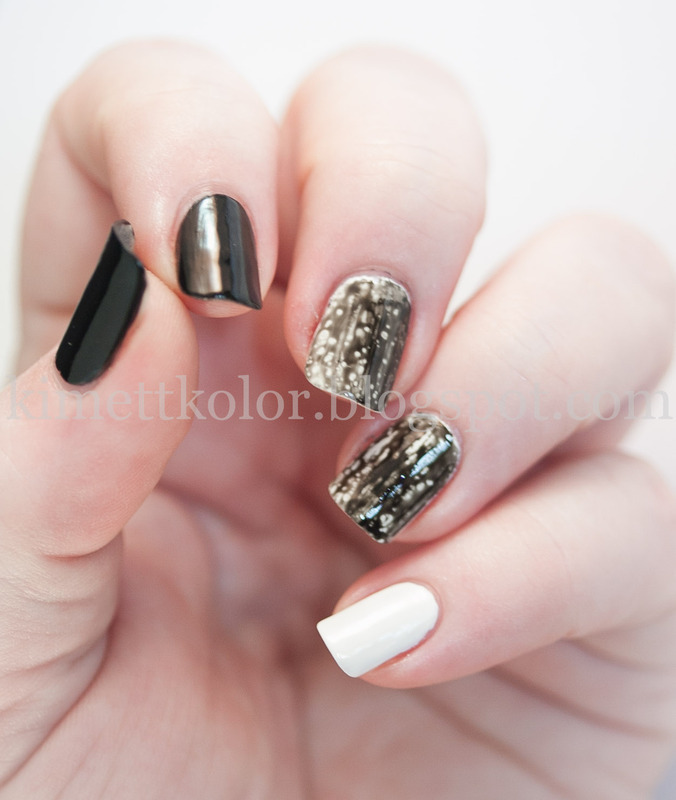 OPI Black Spotted Here! nail art by Kimett Kolor