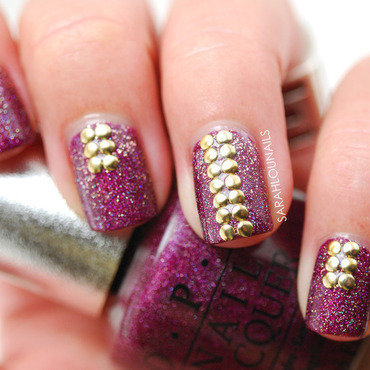 Born Pretty Stud Nails nail art by Sarah S