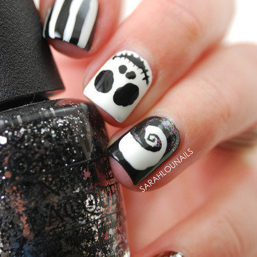 Nightmare Before Christmas Nails! nail art by Sarah S