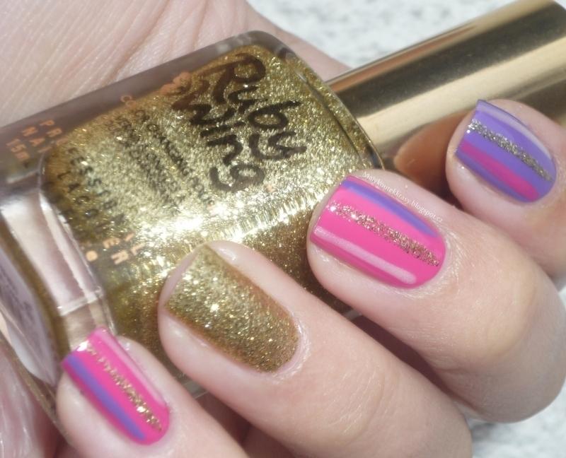 Stripes nail art by Romana