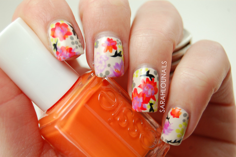 Pinterest Inspired Floral Nails! nail art by Sarah S