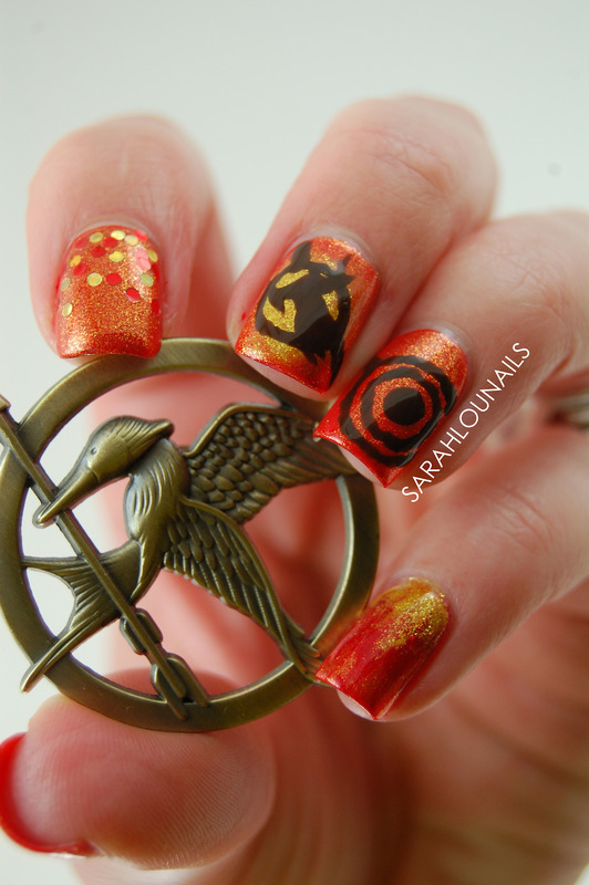 Catching Fire Nails! nail art by Sarah S