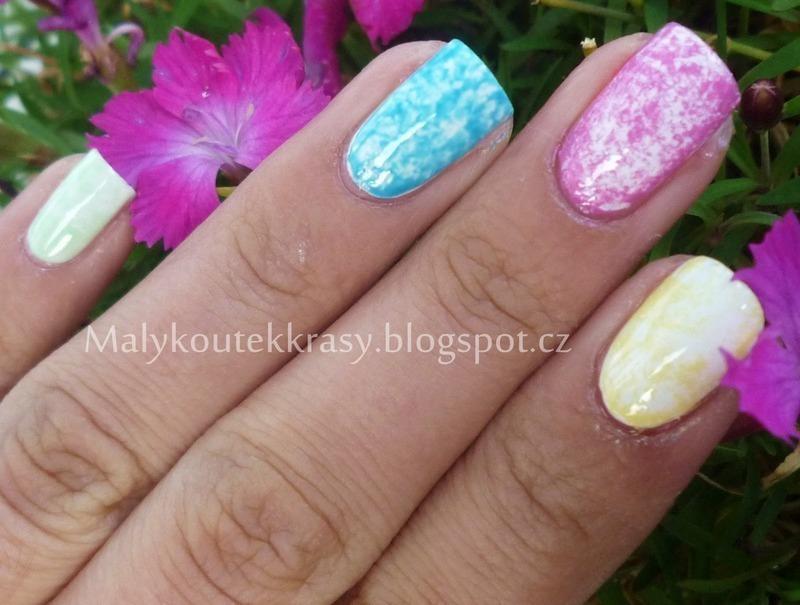Plastic wrap nail art nail art by Romana