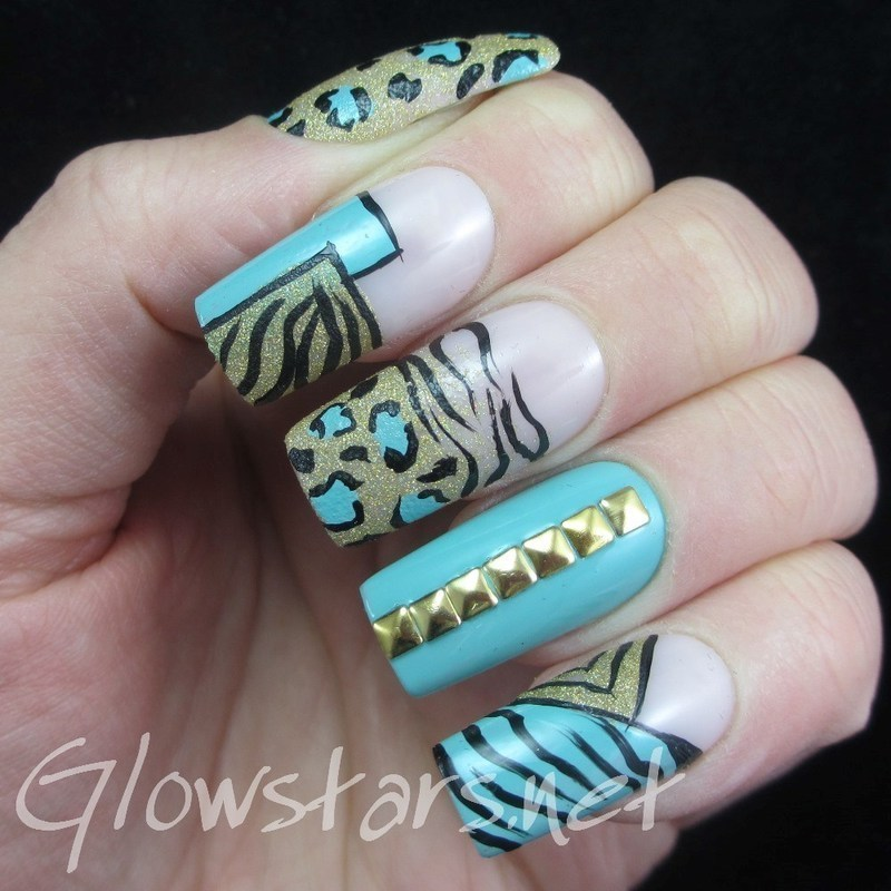 Everything you love will burn up in the light nail art by Vic 'Glowstars' Pires