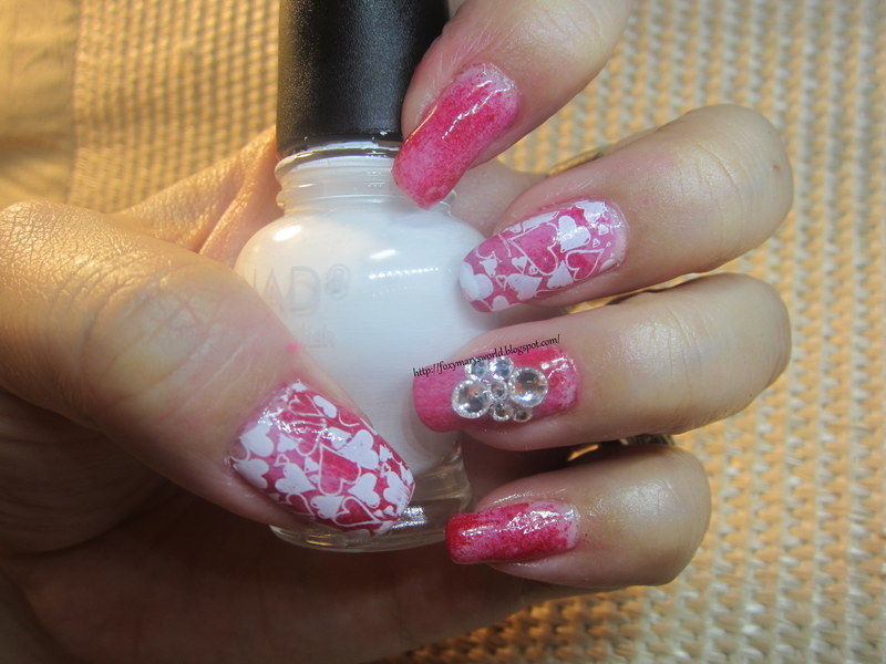 V Day Nails nail art by Silje  Bannister