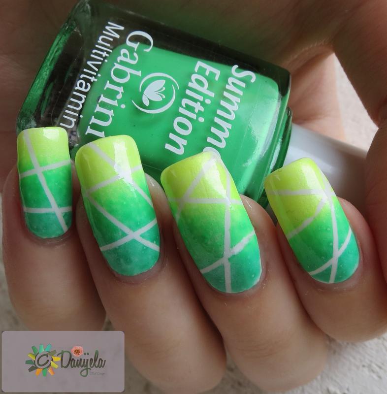 Summer cocktail nail design nail art by bydanijela