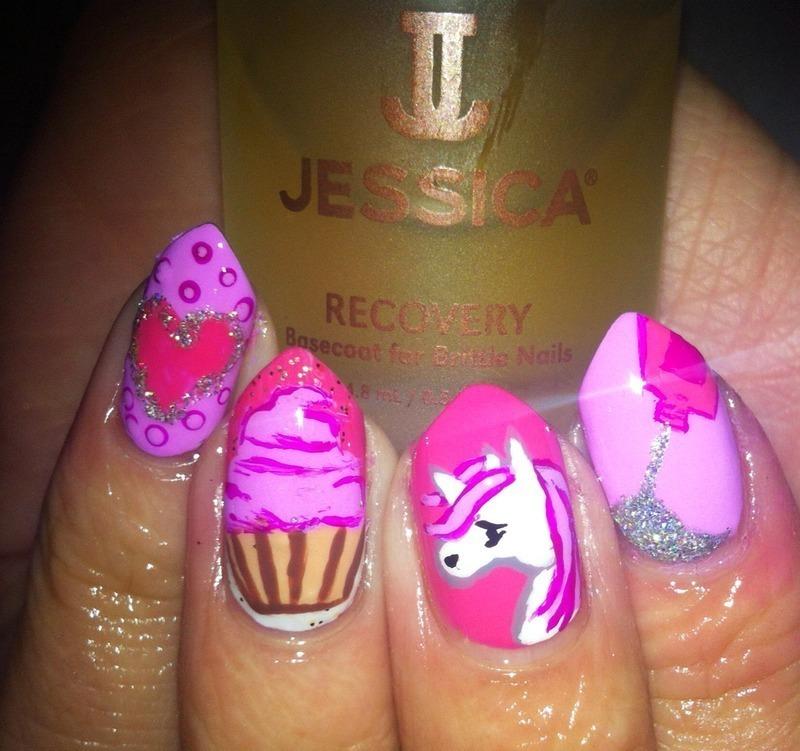 Valentines wish list nail art by Tasha