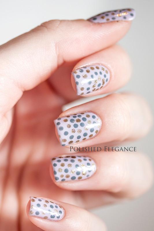 Circle, circle, dot, dot nail art by Lisa