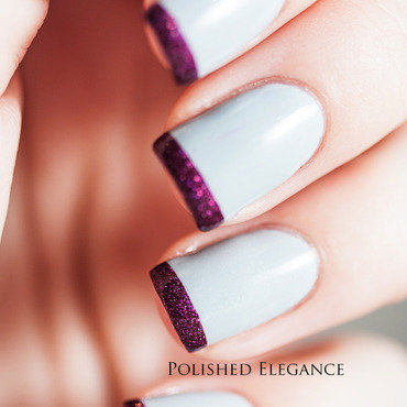 Funky French nail art by Lisa
