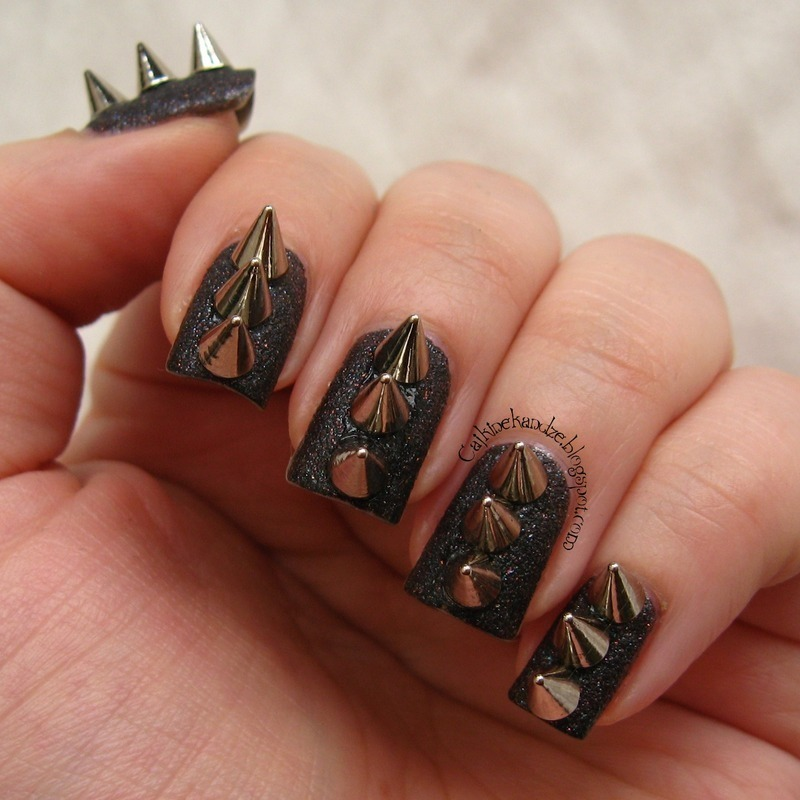 Spike nail art by Vedrana Brankovic