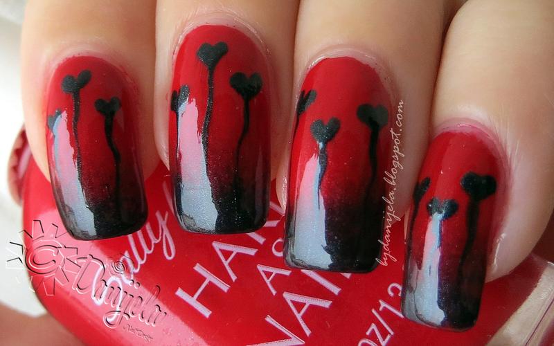 Gothic style manicure nail art by bydanijela