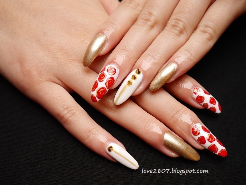 There is no rose without a thorn nail art by Anhy