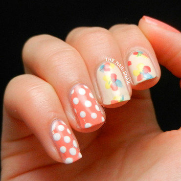 Mr. Candiipants Inspired Floral nail art by Lucy (the Nail Snail)
