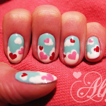 Love is in the air ❣ nail art by AliceLittleMadness