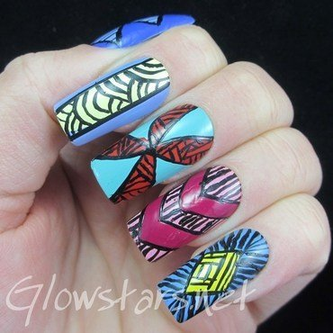 It's been a warm winter and a cold spring nail art by Vic 'Glowstars' Pires