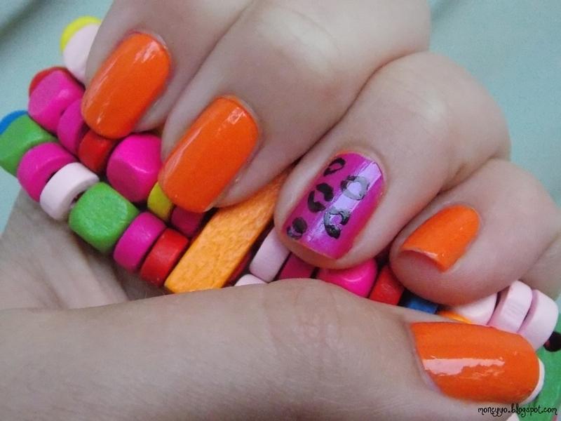 Pink panther nail art by Paulina