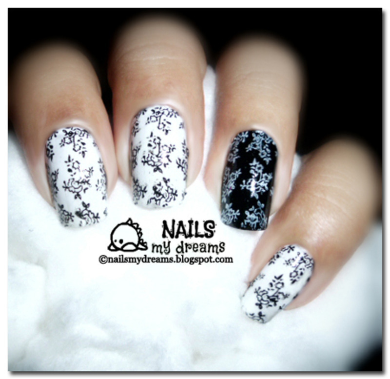 Black and White Nails nail art by Kat of NailsMyDreams