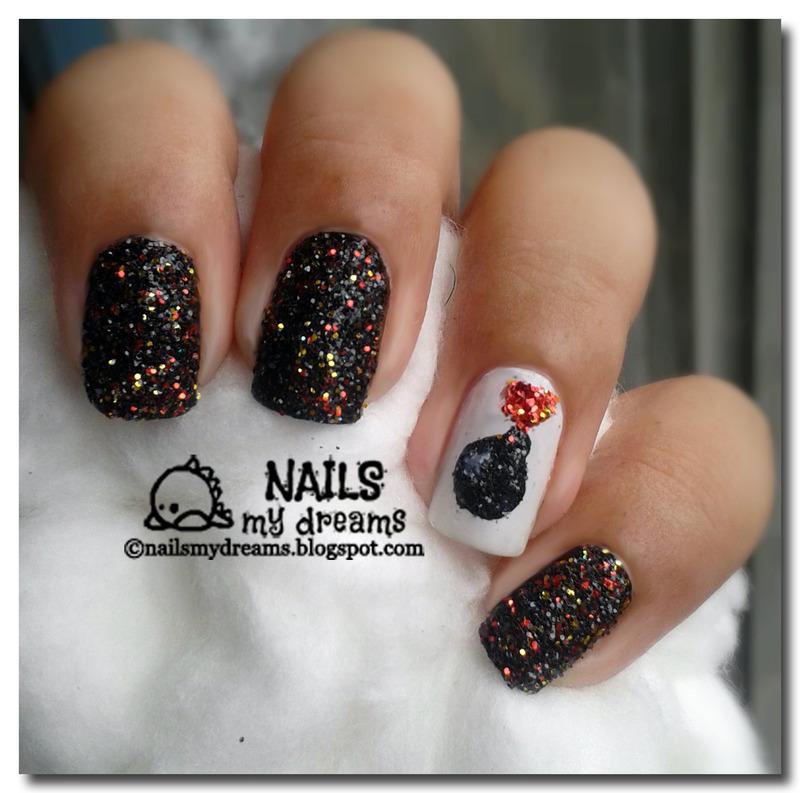 Glitter Bomb Nails nail art by Kat of NailsMyDreams