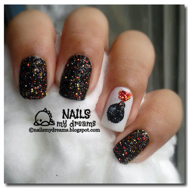 Glitter Bomb Nails nail art by Kat of NailsMyDreams
