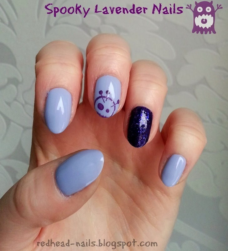 Spooky Lavender Nails nail art by Redhead Nails - Nailpolis: Museum ...