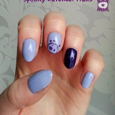 Spooky Lavender Nails nail art by Redhead Nails