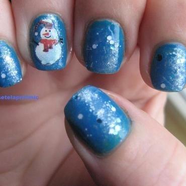 snowman nail art by Frumusetelapretmic
