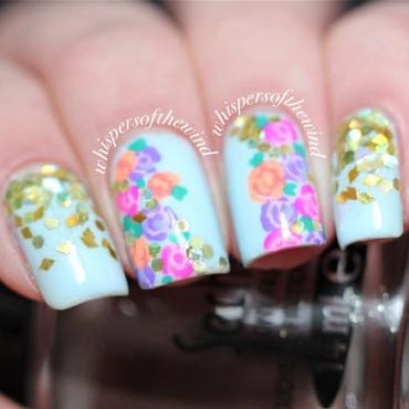 Spring Florals nail art by Anya