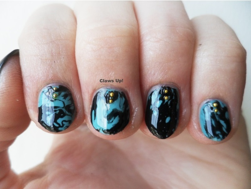 Turquoise nail art by Jacquie