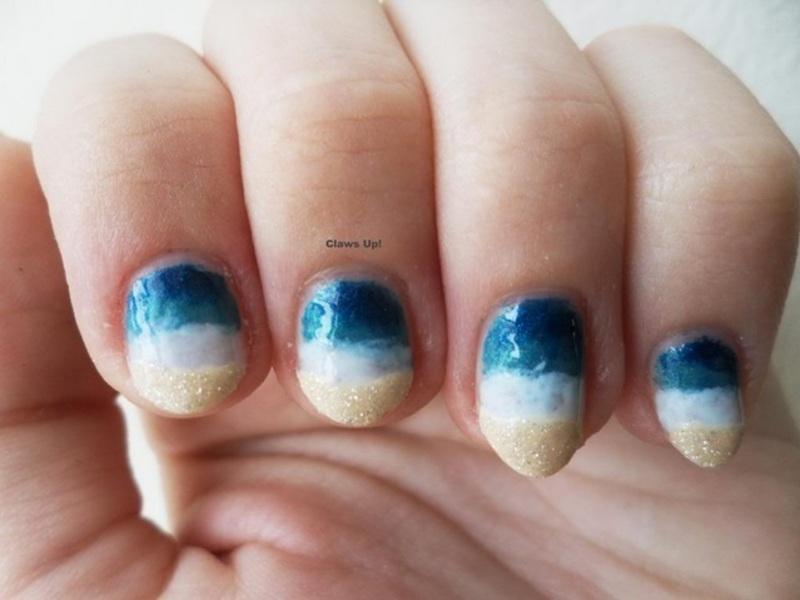 Beachy Keen nail art by Jacquie