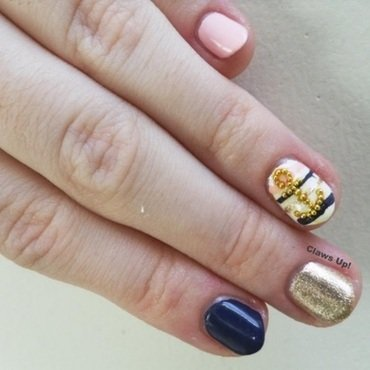 Preppy nail art by Jacquie
