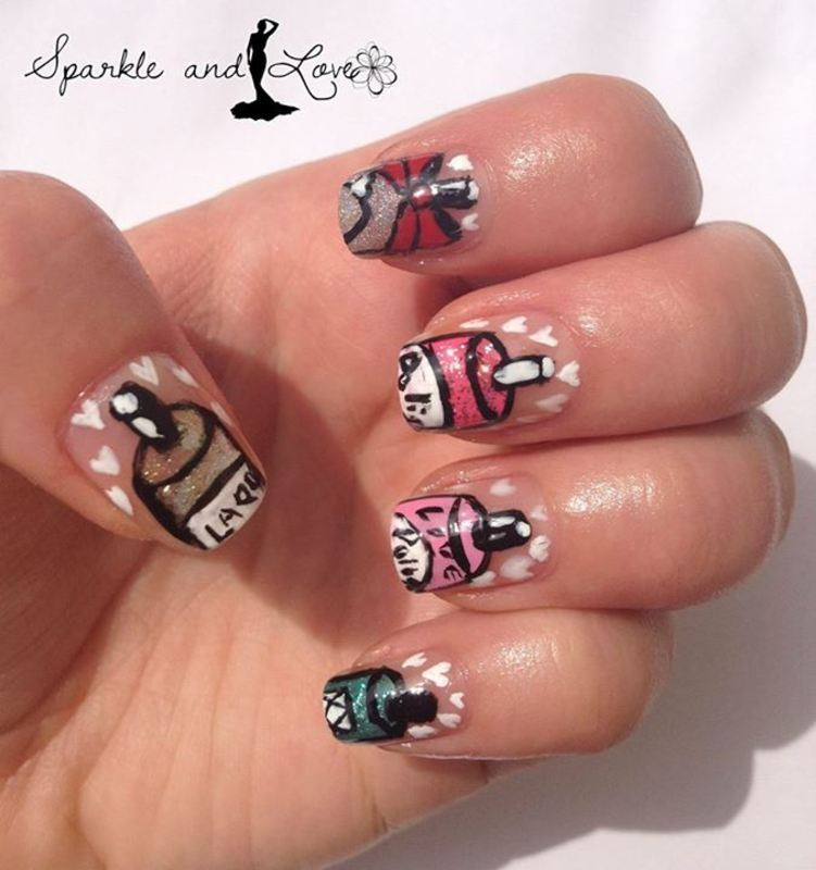 Polish Love for Valentine`s Day nail art by Sparkle  And Love