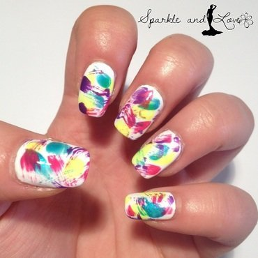 Splatter nails nail art by Sparkle  And Love