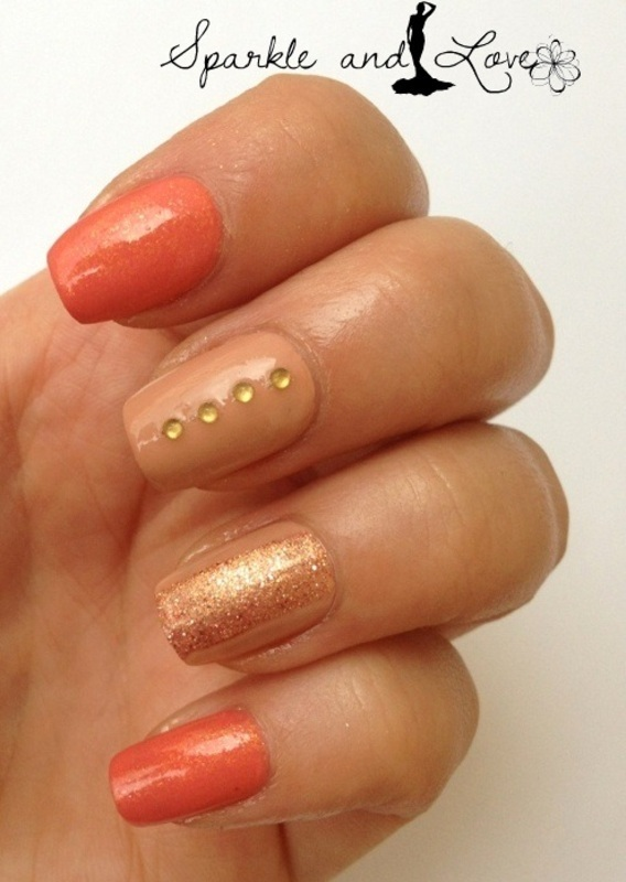 autumn nails nail art by Sparkle  And Love