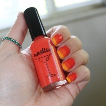 Sunset Mani nail art by Kristy  Bond