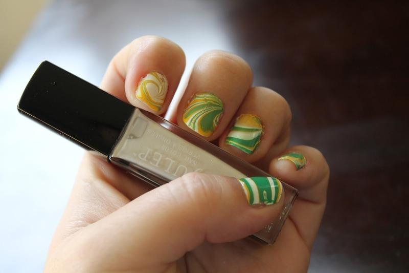 Sprite Mani nail art by Kristy  Bond